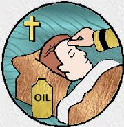 This is a great symbol because it demonstrates how the sacrament of anointing of the sick is done
