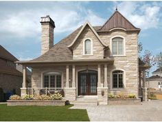 European House Plan with 2021 Square Feet and 3 Bedrooms from Dream Home Source | House Plan Code DHSW75578