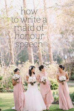 how to write a maid of honour speech
