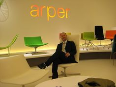 Arper stand in Milan exhibition
