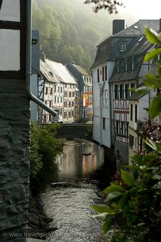 Pictures of Germany - Monschau - the Rur River --> See more at http://www.EverythingAboutGermany.com