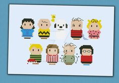 Mini People - Peanuts cross stitch pattern by cloudsfactory