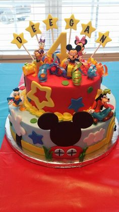 My sister's cake creation for my great nephew's   Mickey Mouse Clubhouse Birthday Party! Yay!  @Tanya Lewis .