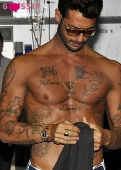 Fabrizio Corona love the tattoos, so I need to get Taller, tanner, some tattoos and a whole bunch more fit