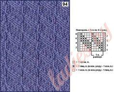 Коллекция простых рельефных узоров спицами