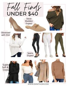 Fashion Blogger Dani Thompson shares the best fall outfit finds for under $40 including Steve Madden Mule Dupes, trendy and cozy sweaters, and the perfect jeans to get you through fall and beyond! Business Casual Womens Fashion, Olive Jeans, Perfect Jeans, Faux Leather Leggings, Spanx, Cozy Sweaters, Fall Looks, Sweater Weather, Affordable Fashion