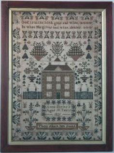 1831 'Thou shalt not steal' House Sampler by Anne Davies