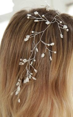 Start To Bloom headband in white