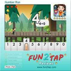 Number Run - Cool Math Adventure. Full review at: http://fun2tap.com/index.cfm#id2123 --------------------------------------  #kids  #apps #KidApps #iosApps  #education #edtech  #parenting #tech #education #homeschool #edtech #mlearning #ipad #mobilelearning
