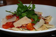 """Fast-food"" - Ravioli med tomat, parmaskinke og basilikum"