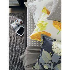 Marimekko Kullervo Grey Queen Sheet Set in All Bedding   Crate and Barrel