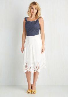 Team Edwardian Skirt - Summer - White - Light ModCloth.com