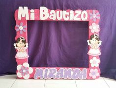 Birthday Pictures, Communion, Irene, Ideas Para, Picture Frames, Baby Shower, Calligraphy, Party, Moldings