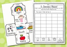 Five senses race game printable