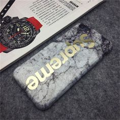 supreme Marble gold Phone Cases for iPhone 7 Case Marble Ape case For Apple iphone 6S 6 Plus 6SPlus Cover