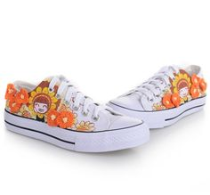 wholesale Painting canvas shoes flower lovely fashion for girls M-D-DB004