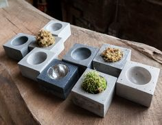 MICRO ORB Concrete Bowl - Jewelry Holder, Salt and Pepper Pinch Pot, Paper Clip Holder, Air Plant Vase by INSEKDESIGN on Etsy https://www.etsy.com/listing/161387193/micro-orb-concrete-bowl-jewelry-holder