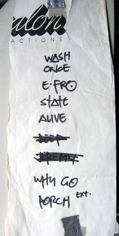 Pearl Jam set list from 07-02-1991.