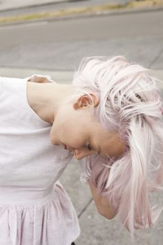LOVE THE COLOR. i am obsessed with very pastel hair.
