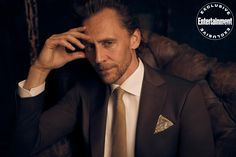 Tom Hiddleston suits up for EW's 'Loki' digital cover shoot