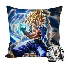 SSJ Vegito Vegetto Final Kamehameha Throw Pillow - Dragon Ball Z Couch Pillow - Double Printed
