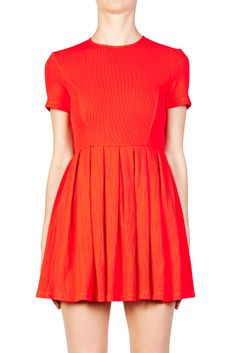 Apex Short Sleeve Pleated Dress