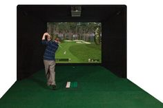 Could your game use a little work or your basement use a new game? Play more golf from home with the the Par-T Eagle Stroke HD Golf System. This advanced at home golf simulator incorp Home Golf Simulator, Indoor Golf Simulator, Golf Gps Watch, Golf Apps, Swing Trainer, Mens Golf Outfit, Golf Simulators, Golf Ball, Golf Clubs