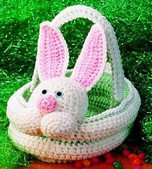 Crocheted Bunny Basket by Country Woman Magazine