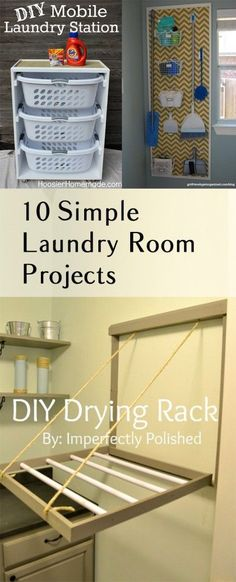 Great ideas for your laundry room! My laundry room is tiny - I could definitely use some of these!