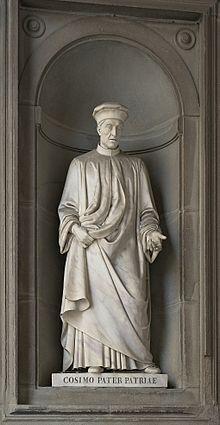Cosimo Medici, Pater patriae, Uffizi Gallery, Florence