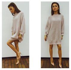 Wardrobe Query: Zendaya's Alexia Ulibarri Fall 2014 Gray Oversized Patty Sweater Dress
