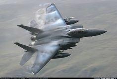 F-15E Strike Eagle over Wales, UK