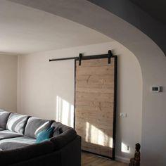 Schuifdeur steigerhout met staal robusto 2