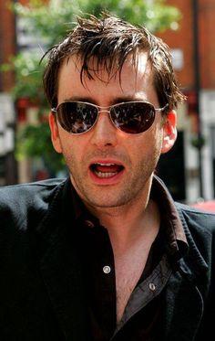 David Tennant and sunglasses