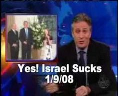 Wow!!! zionist jew jon Stewart Disses zionist Israel and bush For Once. i hope he continues on this path of exposing zionism.
