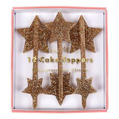 Gold Star Party Picks 12 Meri Meri Cake Picks Gold Star