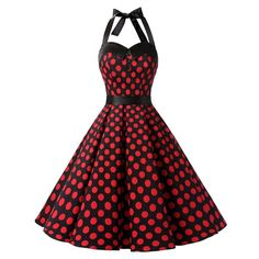 Dressystar Vintage Polka Dot Retro Cocktail Prom Dresses 50's 60's... ($24) ❤ liked on Polyvore featuring dresses, cocktail prom dress, homecoming dresses, evening dresses, holiday cocktail dresses and white dress