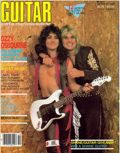 Ozzy & Jake E. Lee on the Cover of Guitar for the Practicing Musician October 1984