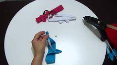 DIY. Balacas en tela  elaboradas paso a paso  y decoradas con flores, mo...