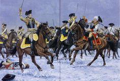 Prussian cavalry battle of Leuthen 1757