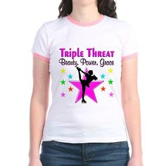 An inspiring Figure Skating design for your superb and gifted skater that is a Triple Threat. http://www.cafepress.com/sportsstar/10327637 #Ilovefigureskating #Iceprincess #Figureskater #IceQueen #Iceskate #Skatinggifts #Iloveskating #Borntoskate #Figureskatinggifts