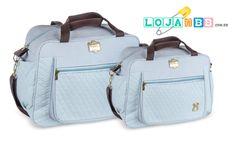 Bolsas para bebês e kit maternidade Infant Azul céu. www.lojadobb.com.br