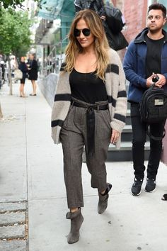 Jennifer Lopez in the paper-bag pant for day.