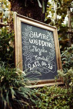 welcome boad / ウェルカムボード / crazy wedding / ウェディング / 結婚式 / オリジナルウェディング/ オーダーメイド結婚式 / blackboad / 黒板