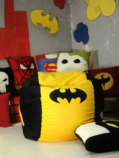 Batman bean bag chair Adult handcrafted beanbag L to by EJSIdsgn