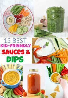 Sauces are a great way to get extra vegetables into kids without too much fuss and often the addition of a sauce will encourage even the fussiest of eaters to eat something that they may have turned their nose up at if it were served on it's own! Dips are a fantastic way to get your kids snacking on raw chopped veg! Homemade sauces and dips can be a much healthier option for your kids so here's my top 15 to try! #dipsrecipes #sauces #getyourkidstoeatveggies #parentinghacks #fussyeaters Veggie Recipes Healthy, Healthy Sauces, Healthy Foods To Eat, Baby Food Recipes, Kid Recipes, Blender Recipes, Easy Family Meals, Easy Meals, Freezer Meals