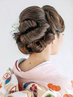 Unique Hairstyles, Wedding Hairstyles, Japanese Hairstyles, Coming Of Age Hairstyle, Geisha Hair, Cherry Blossom Wedding, Japanese Wedding, Hair Arrange, French Braid
