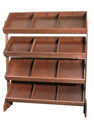 Wooden Display Racks - Point of Purchase Displays - Wooden Display Racks - Maine Bucket Company