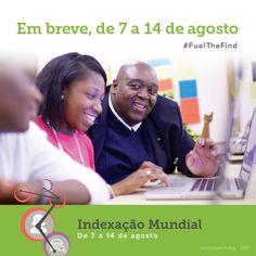 A indexação fornece o combustível que alimenta o site FamilySearch.org. Faça parte da história e junte-se a nós para uma semana inteira de Evento Mundial de Indexação.  Use a hashtag #AcelerarAPesquisa para participar da conversa. Saiba mais em http://on.fb.me/1DsJr14