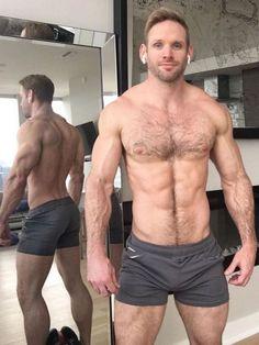 Hot Men Bodies, Big Calves, Hairy Hunks, Beautiful Men Faces, Daddy Bear, Muscular Men, Hairy Chest, Fine Men, Male Face